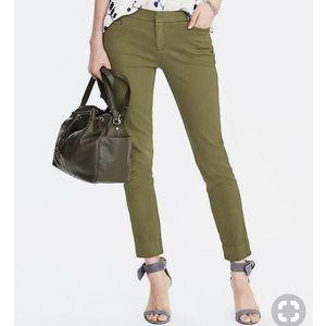 Banana Republic Sloan-Fit Garment-Dyed Pant Olive